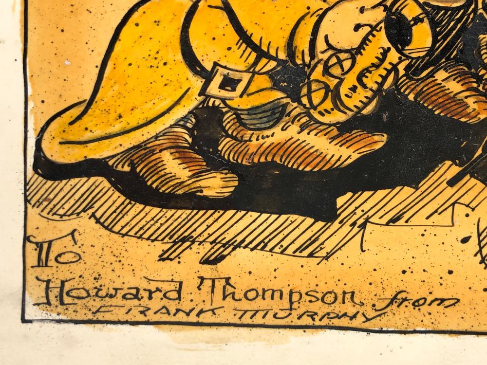 1932 FRANK MURPHY DISNEY 7 DWARVES INSCRIBED DRAWING