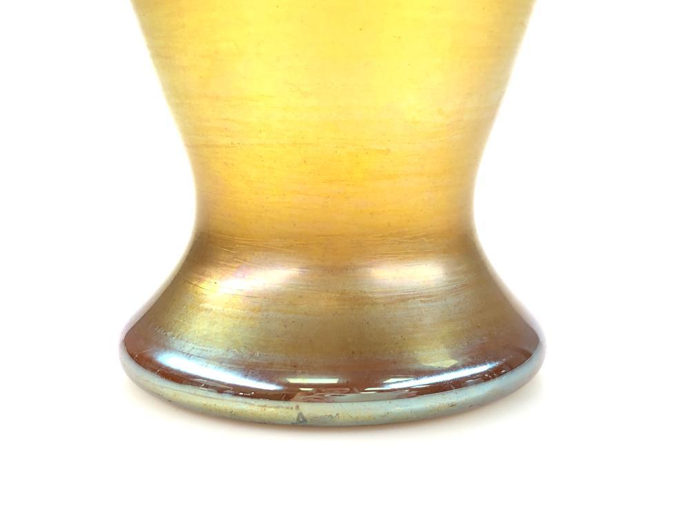 LOUIS COMFORT TIFFANY L.C.T. GOLD FAVRILE ART NOUVEAU ART GLASS VASE