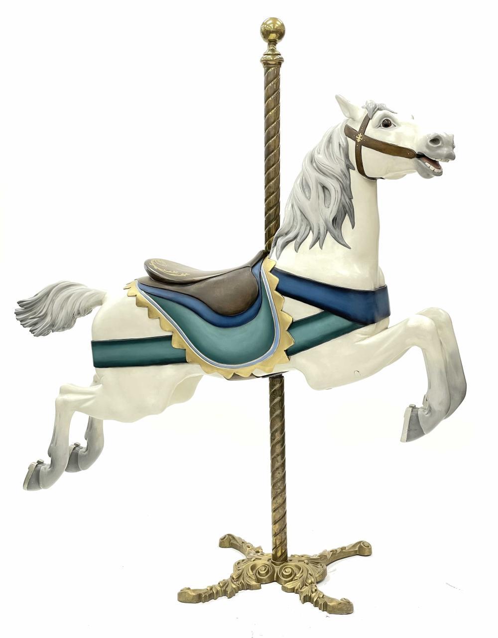 "CIRCA 1908 GUSTAV DENTZEL ""HAPPY"" CAROUSEL HORSE WITH APPRAISAL"