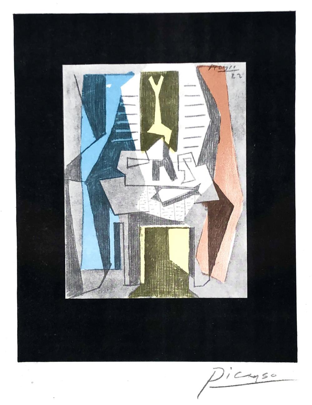 "PABLO PICASSO ""TABLE BEFORE THE WINDOW"" (TABLE DEVANT LA FENETRE) LITHOGRAPH"