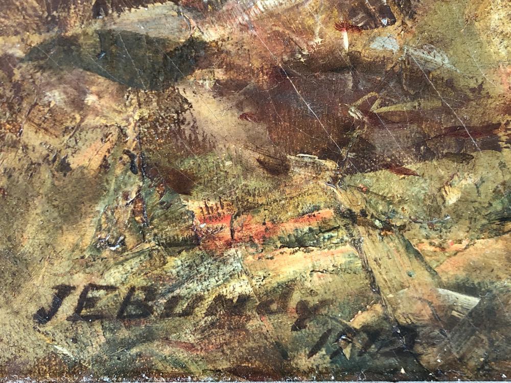 JOHN ELWOOD BUNDY RICHMOND AUTUMN WOODS OIL ON CANVAS