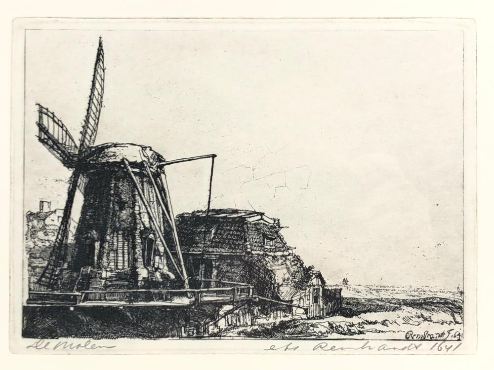 """AFTER REMBRANDT """"THE WINDMILL"""" ETCHING"""