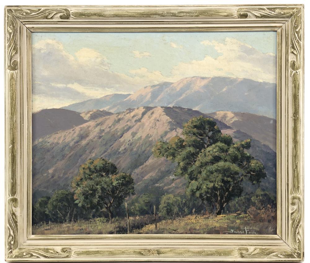 JOSEPH FREY CALIFORNIA MOUNTAIN LANDSCAPE OIL ON CANVAS