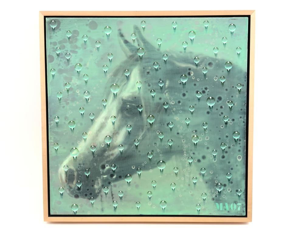 MIROSLAV ANTIC UNTITLED (ARAB HORSE) OIL ON CANVAS