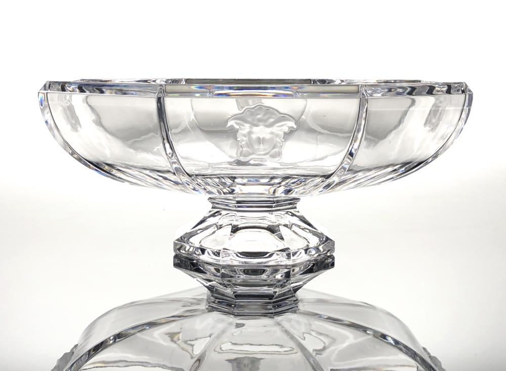 VERSACE ROSENTHAL CRYSTAL LUMIERE FRUIT BOWL