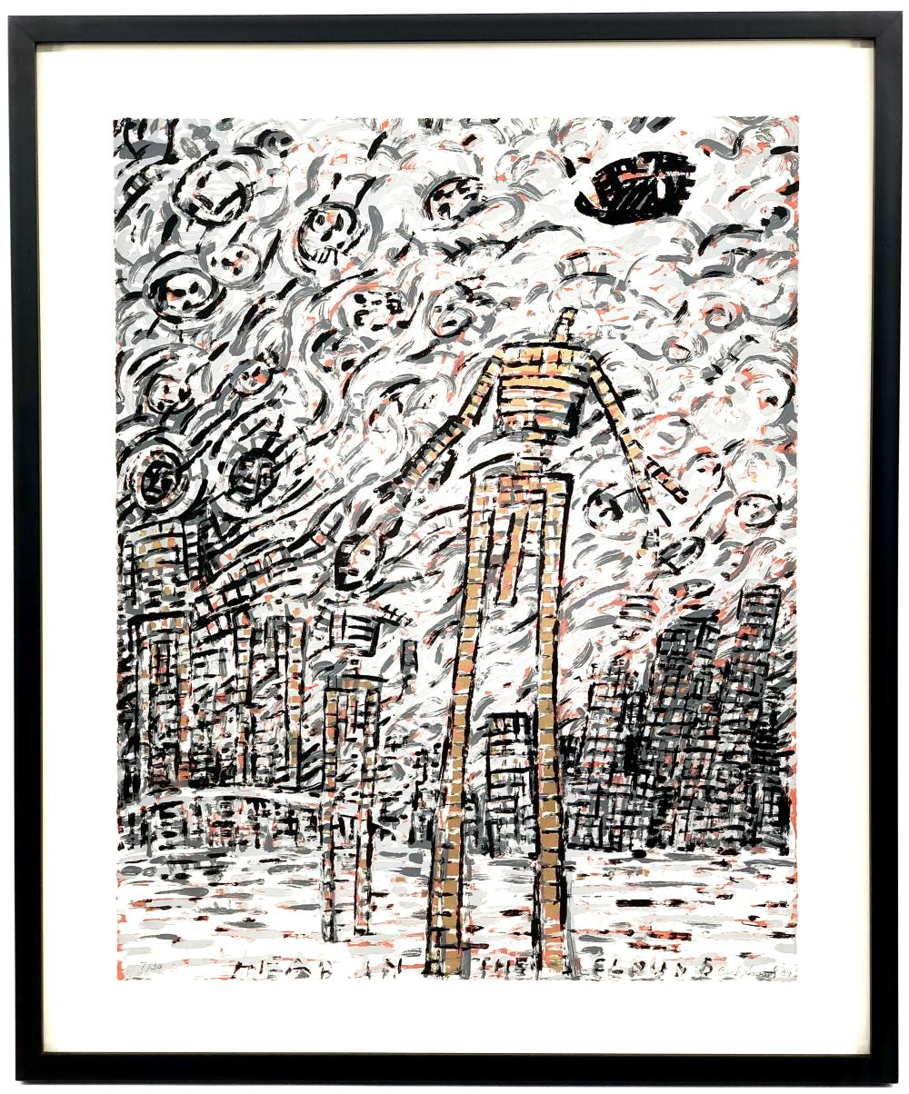 """CARL SMOOL """"HEAD IN THE CLOUDS"""" SIGNED SERIGRAPH"""