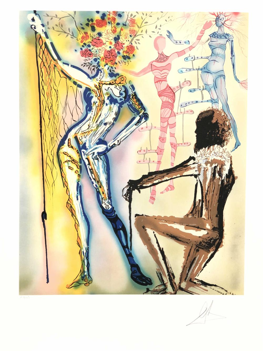"""SALVADOR DALI """"THE BALLET OF THE FLOWERS"""" LIMITED EDITION SIGNED LITHOGRAPH"""