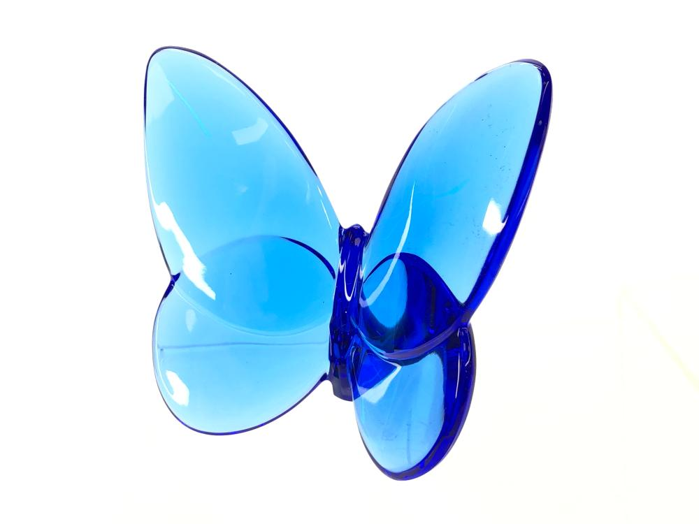 BACCARAT SAPPHIRE BLUE CRYSTAL LUCKY BUTTERFLY