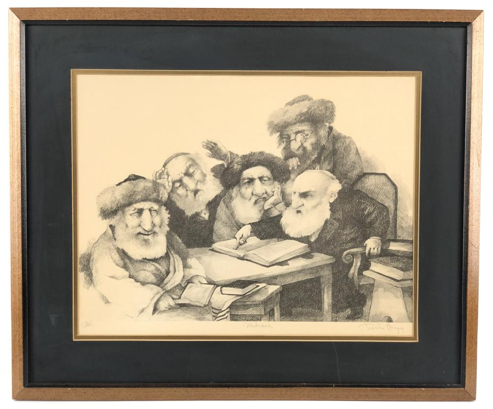 """CHARLES BRAGG """"ACLU"""" SIGNED LITHOGRAPH"""