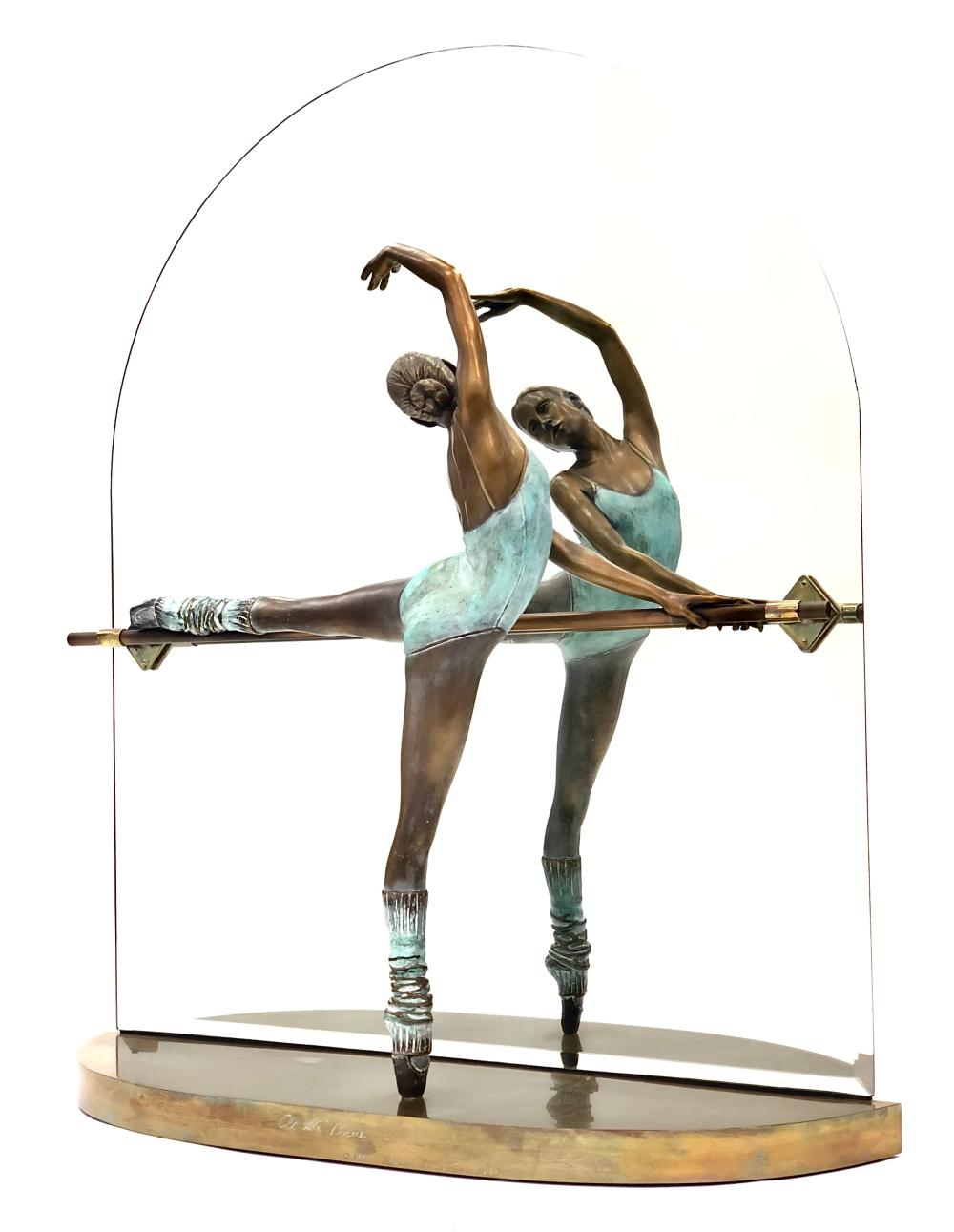 """RAMON PARMENTER """"AT THE BARRE"""" LIMITED EDITION BRONZE SCULPTURE INCLUDES APPRAISAL"""