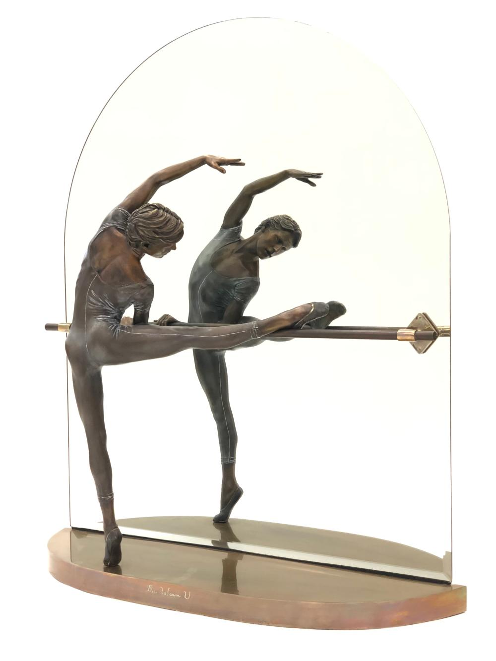 """RAMON PARMENTER """"THE WARM UP"""" LIMITED EDITION BRONZE SCULPTURE INCLUDES APPRAISAL"""