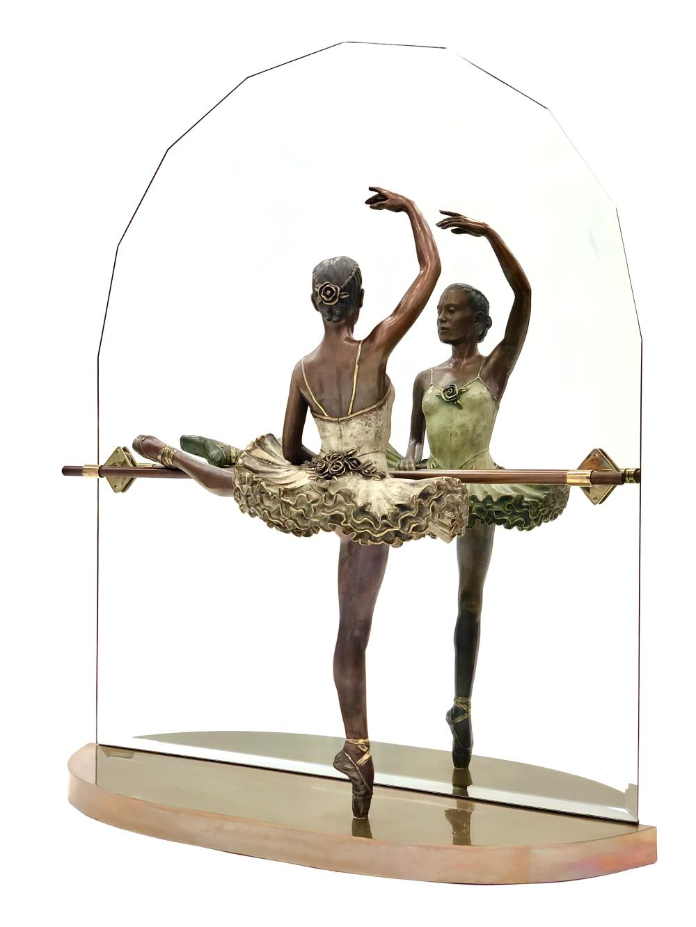 """RAMON PARMENTER """"BEFORE THE CURTAIN"""" LIMITED EDITION BRONZE SCULPTURE INCLUDES APPRAISAL"""