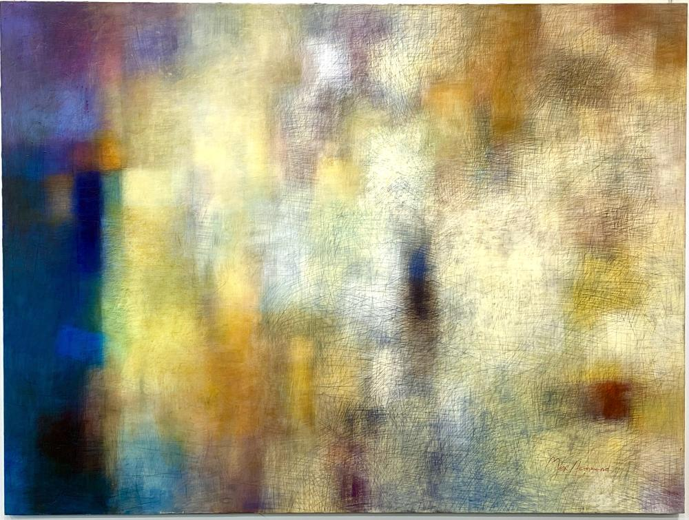 """LARGE 8FT MAX HAMMOND """"CITYSCAPES 1"""" ORIGINAL ABSTRACTOIL ON CANVAS"""
