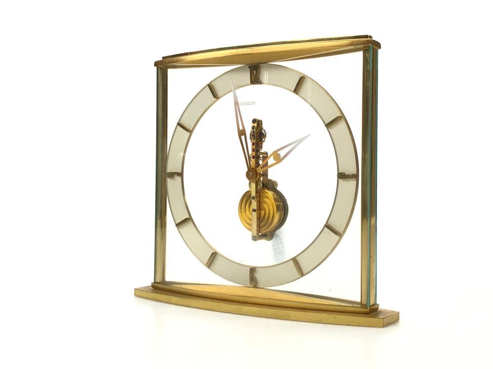 VINTAGE JAEGER LECOULTRE SKELETON BAGUETTE 320 MANTEL CLOCK