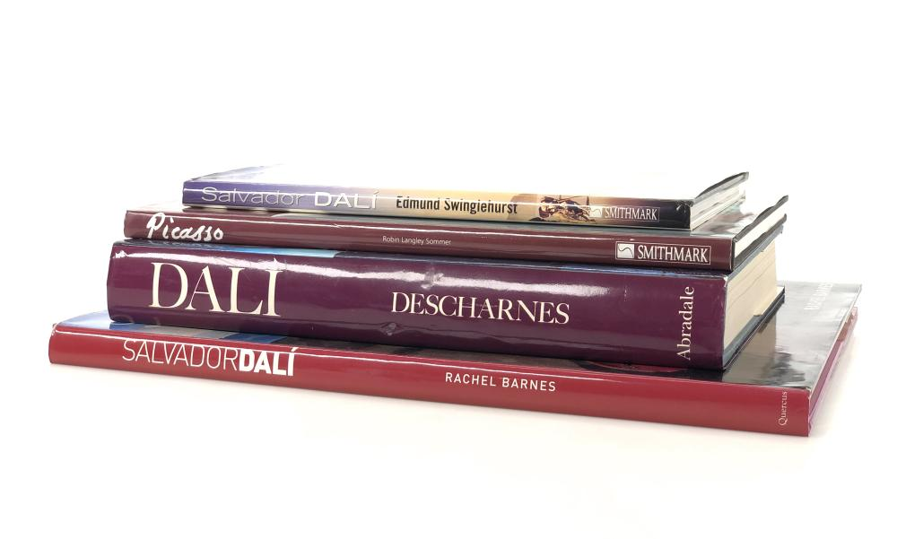 4PC SALVADOR DALI & PICASSO COFFEE TABLE ART BOOKS