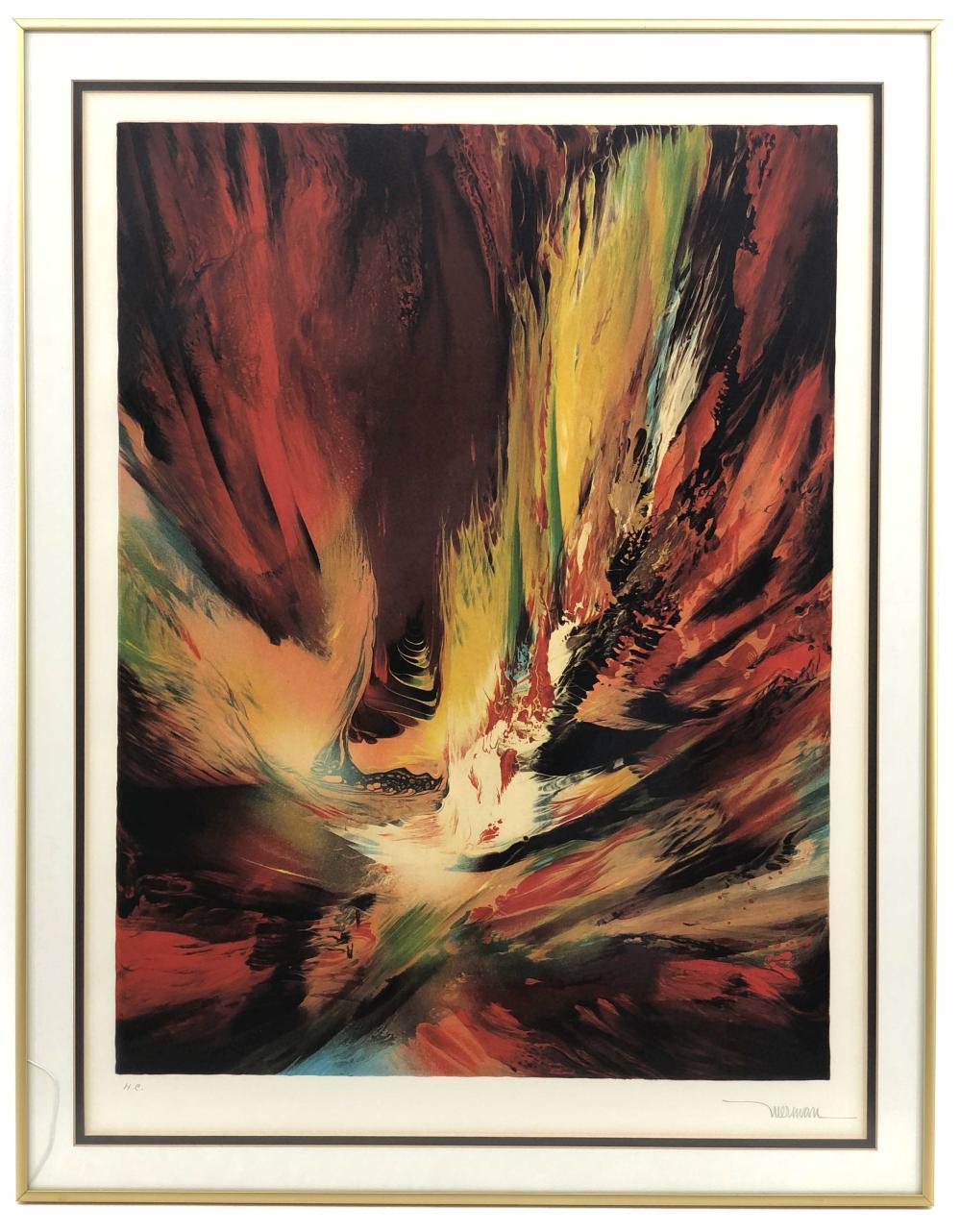 "LEONARDO NIERMAN ""FLIGHT TO THE SUN"" H.C. SIGNED LITHOGRAPH"