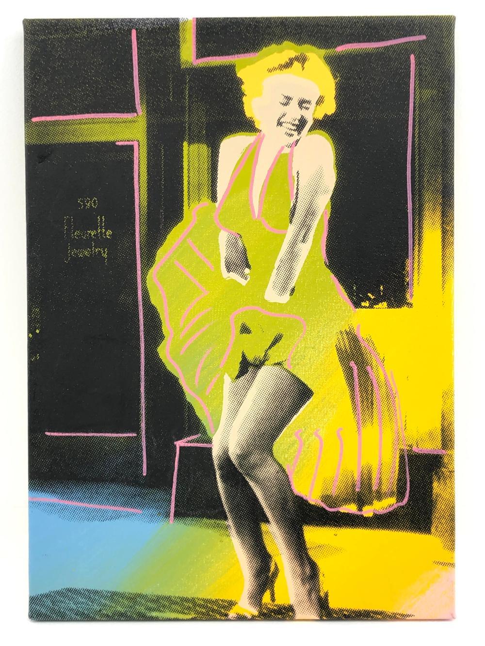 "STEVE KAUFMAN ""MARILYN MONROE: THAT SILLY LITTLE DRESS"" HAND EMBELLISHMENT SIGNED SCREENPRINT ON CANVAS"