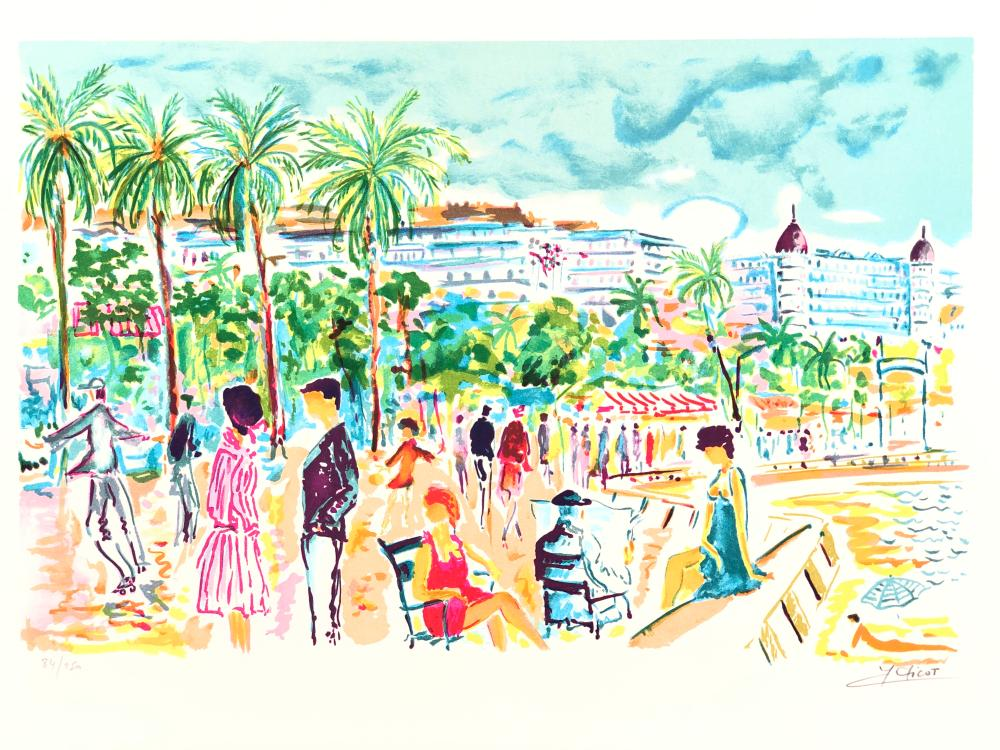 """JEAN-CLAUDE PICOT """"BANDOL"""" LIMITED EDITION SIGNED LITHOGRAPH"""