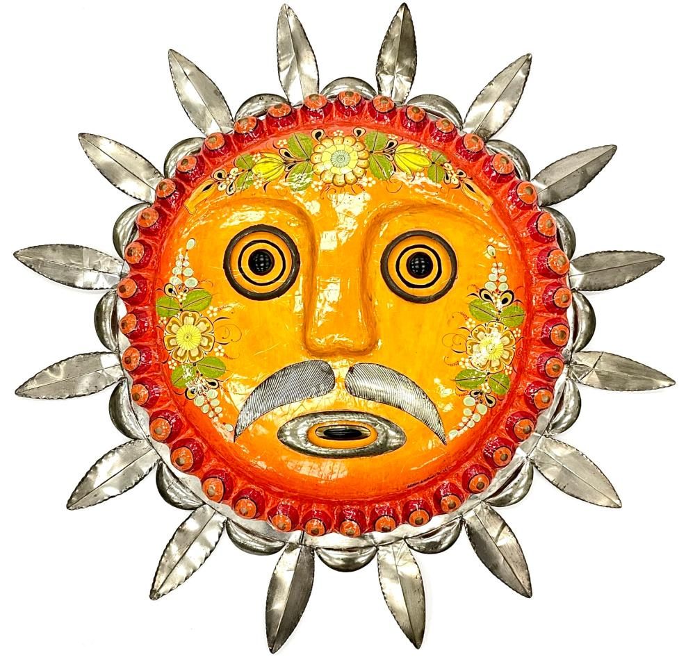 4FT! SIGNED SERGIO BUSTAMANTE LIMITED EDITION PAPER MACHE SUN FACE
