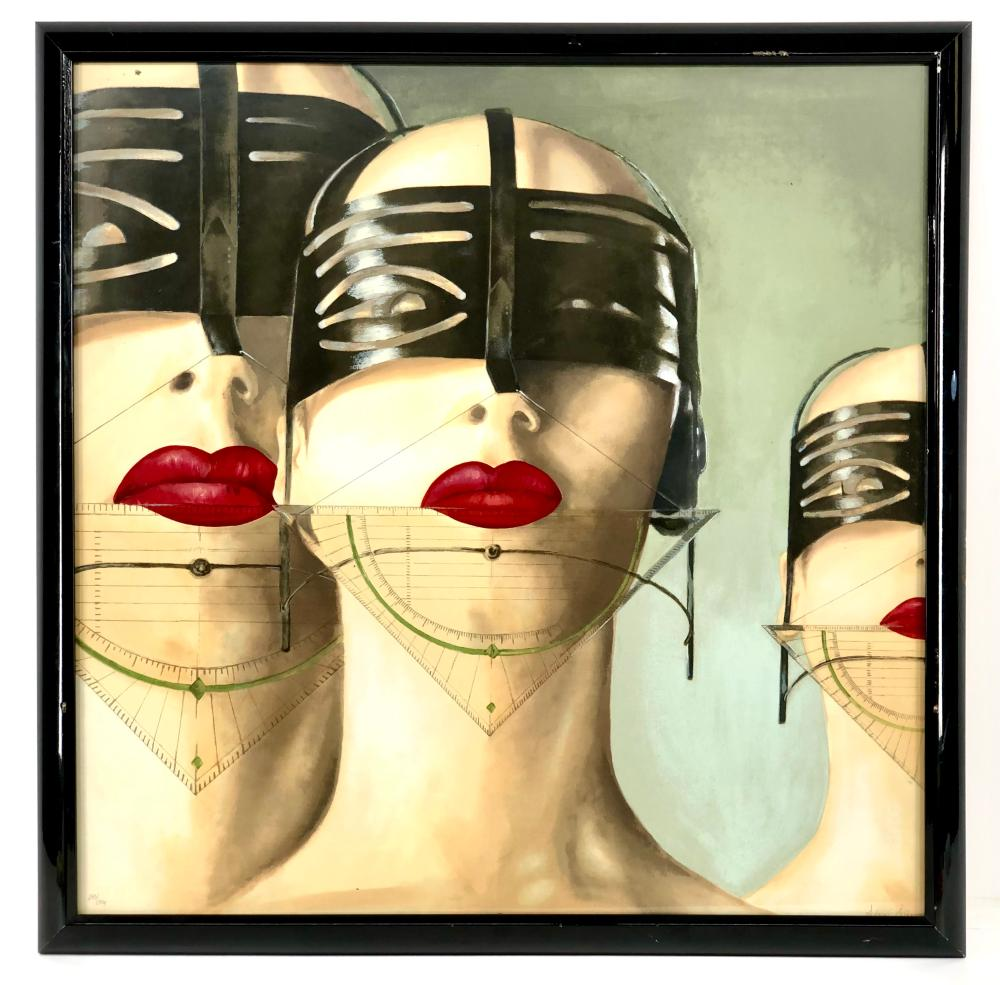 """ALEXI ALLENS """"IS BEAUTY BONDAGE?"""" LIMITED EDITION SERIGRAPH"""