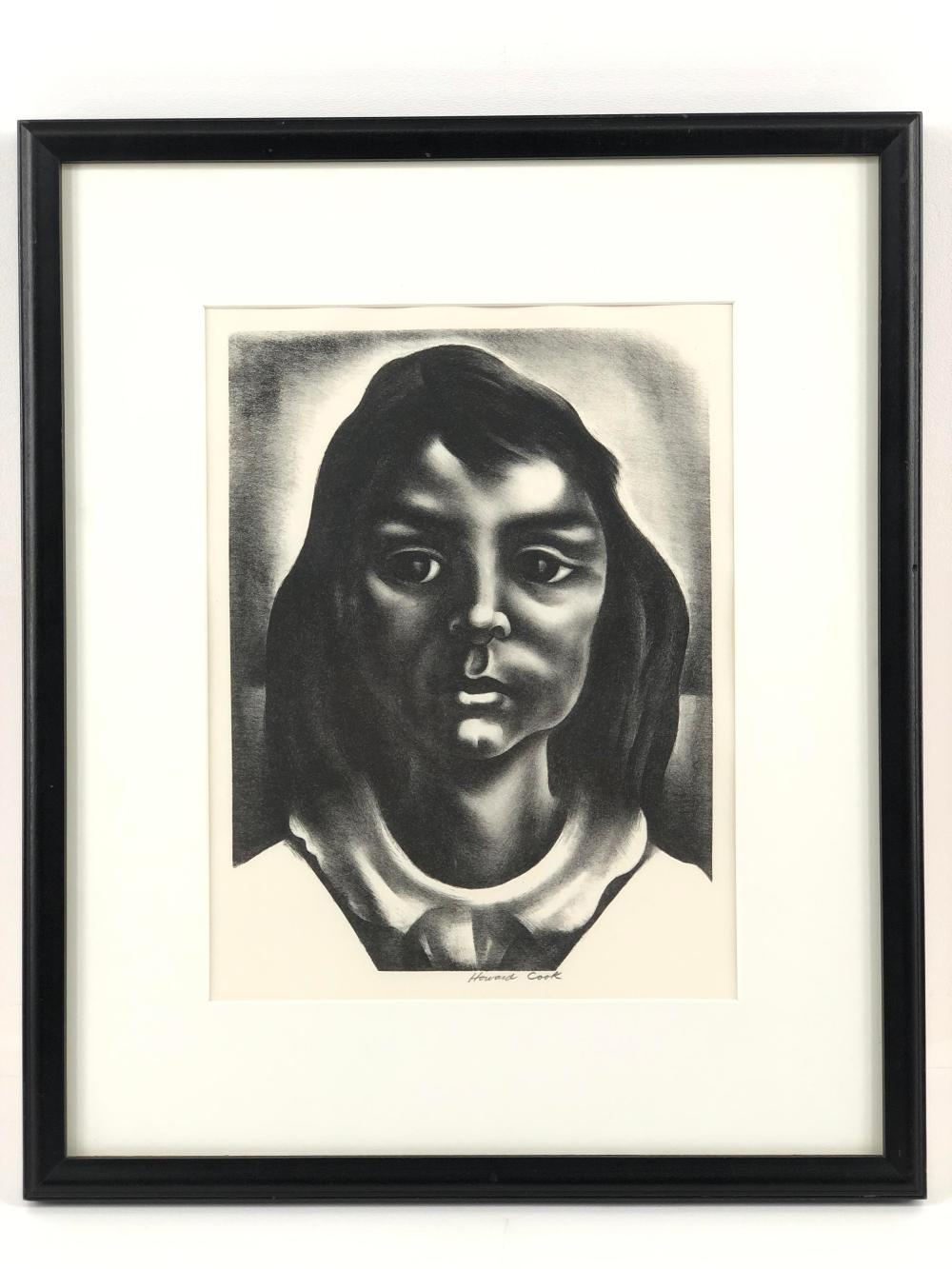 """HOWARD N. COOK """"ROSANNA"""" LIMITED EDITION LITHOGRAPH"""