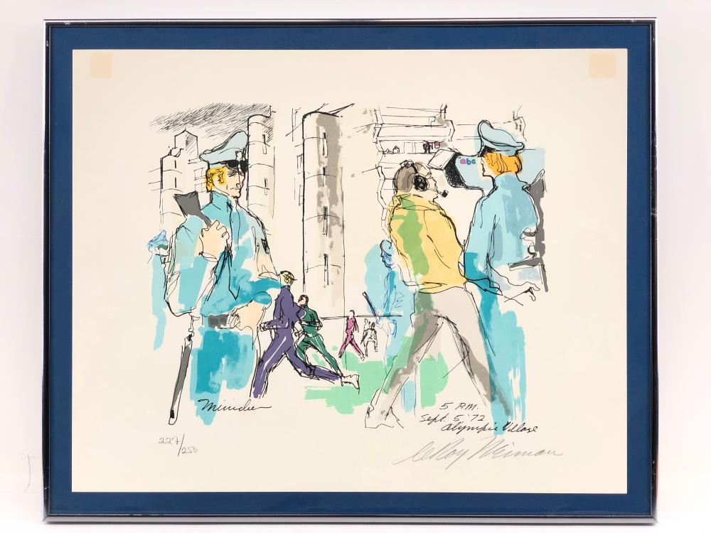 """LEROY NEIMAN """"OLYMPIC VILLAGE, AUG. 25 '72"""" SIGNED SERIGRAPH"""