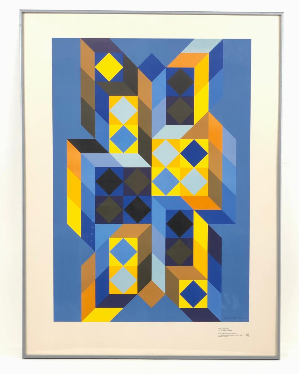 """VICTOR VASARELY """"TRIDIMOR"""" 1969 COLLOTYPE"""