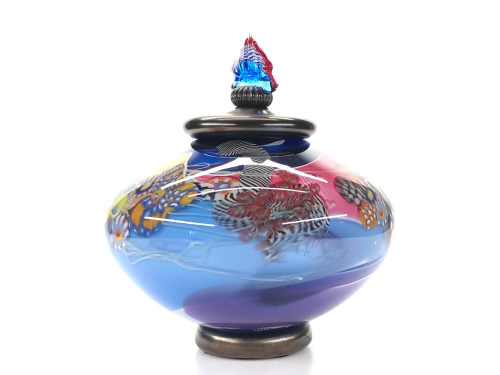 WES HUNTING DISC BLUE PURPLE COLORFIELD JAR