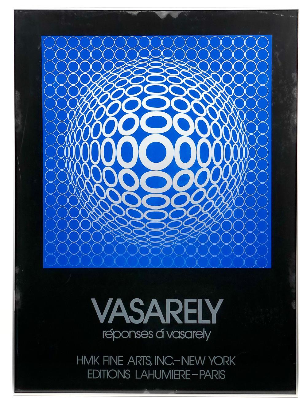"VICTOR VASARELY ""REPONSES A' VASARELY"" SILKSCREEN"