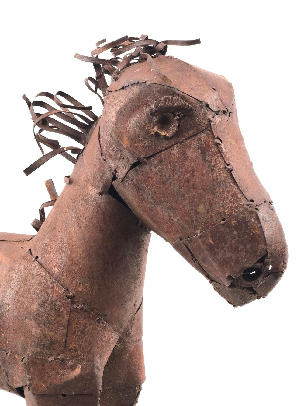 Sold Price Rustic Sheet Metal Yard Art Mini Horse Sculpture August 6 0120 8 00 Am Mst
