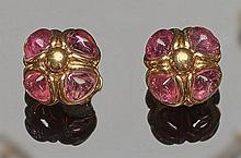 A PAIR OF GOLD AND TOURMALINE EARRINGS, BY VASARI