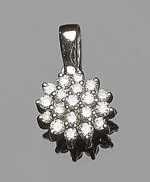 A GOLD AND DIAMOND PENDANT, BY DANIELI