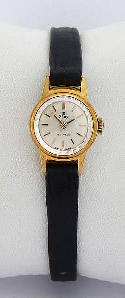 A VINTAGE LADY´S WRISTWATCH, BY EDOX