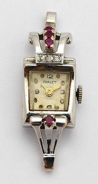 A VINTAGE WATCH, BY CHALET