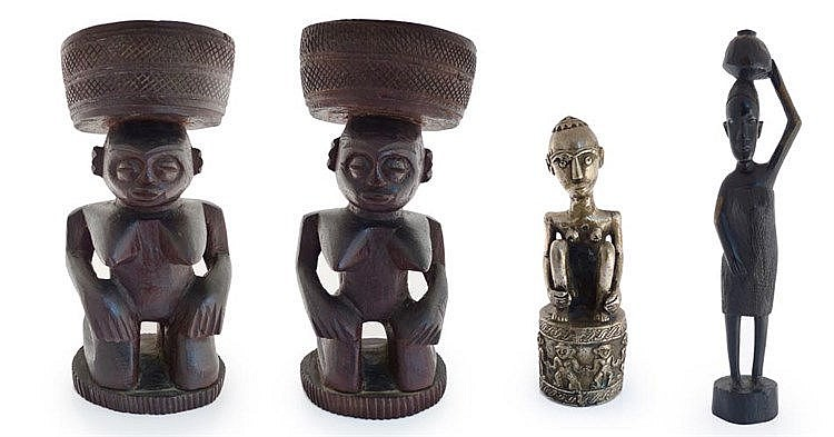 A COLLECTION OF FOUR AFRICAN FIGURES