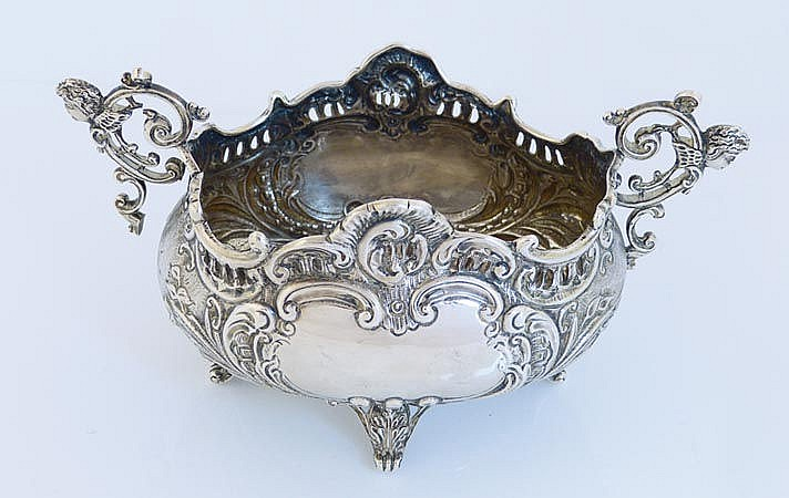 A SILVER CENTERPIECE, EDWARDS & Sons