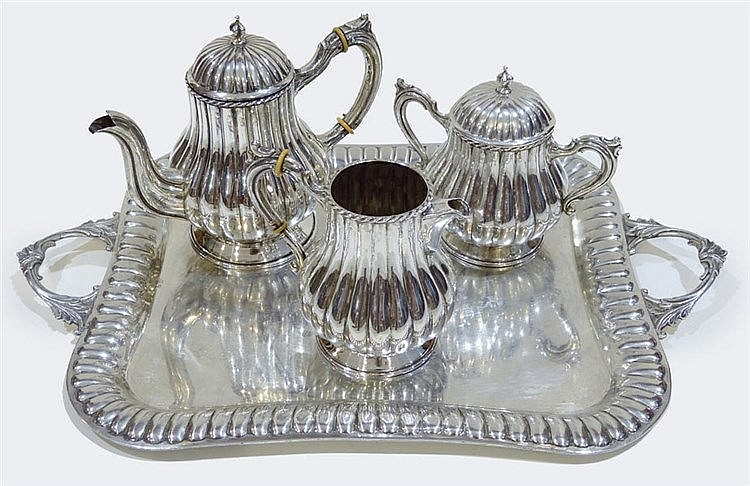 A STERLING SILVER COFFEE SET