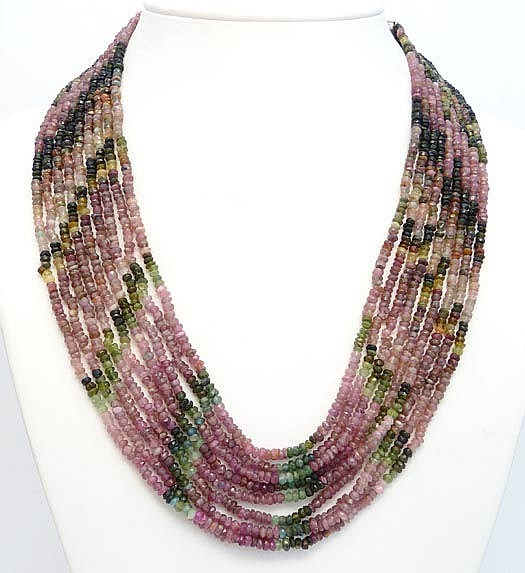 A TOURMALINE NECKLACE