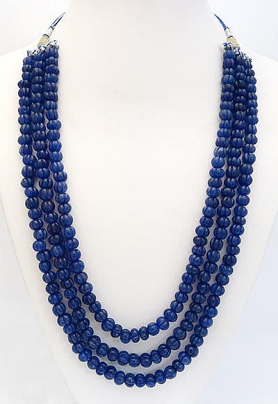 TWO SAPPHIRE NECKLACES