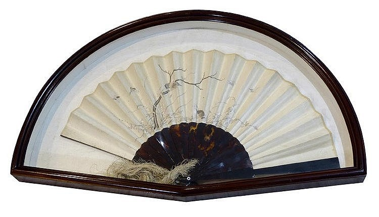 AN ANTIQUE HAND FAN