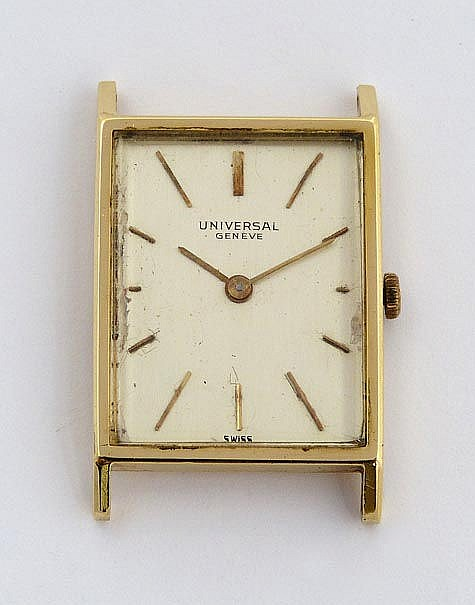 A VINTAGE WATCH, BY UNIVERSAL GENEVE