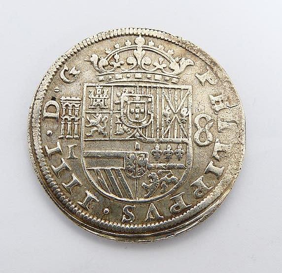 A SPANISH SILVER COIN