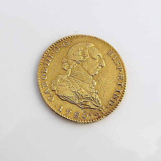 A SPANISH GOLD COIN
