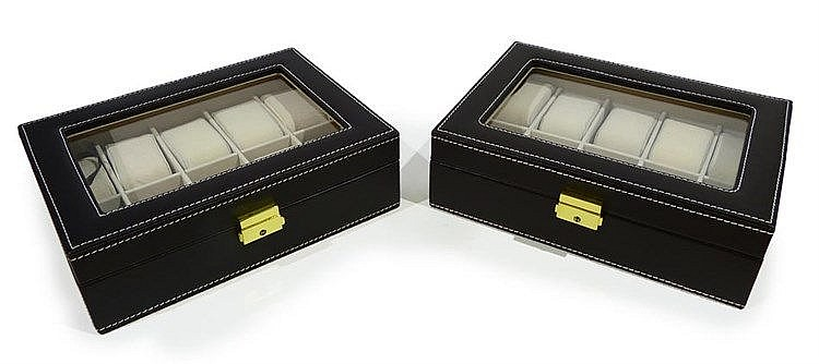 A PAIR OF WATCH BOXES