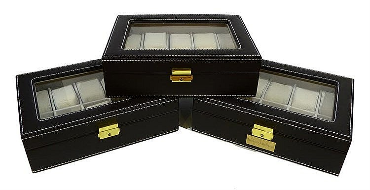 THREE WATCH BOXES