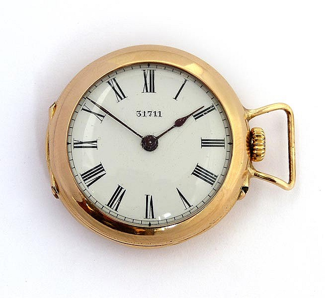 A GOLD PENDANT WATCH
