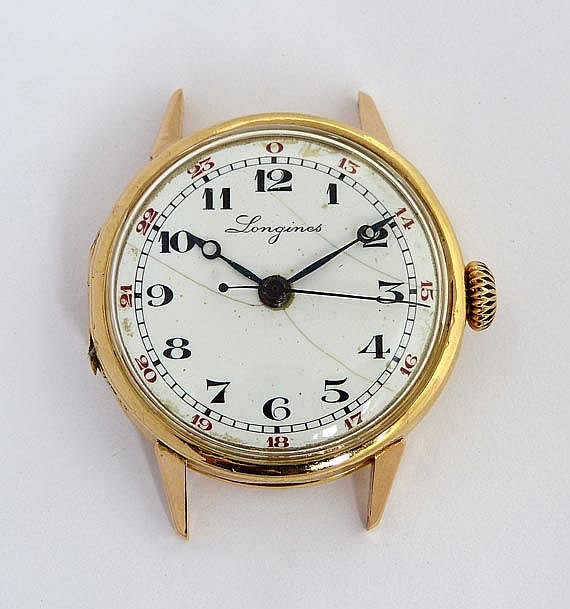 A VINTAGE WATCH, BY LONGINES