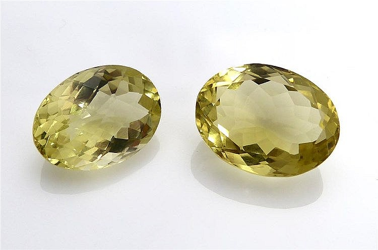 A PAIR OF CITRINE QUARTZES