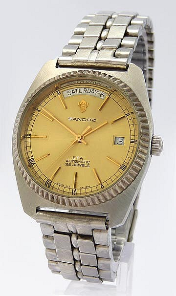A VINTAGE WRISTWATCH, BY SANDOZ