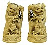 A PAIR OF VINTAGE CARVED IVORY FIGURES